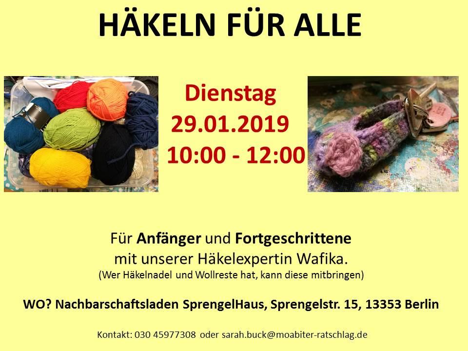 Einladung Häkeln für Alle 29.01.2019