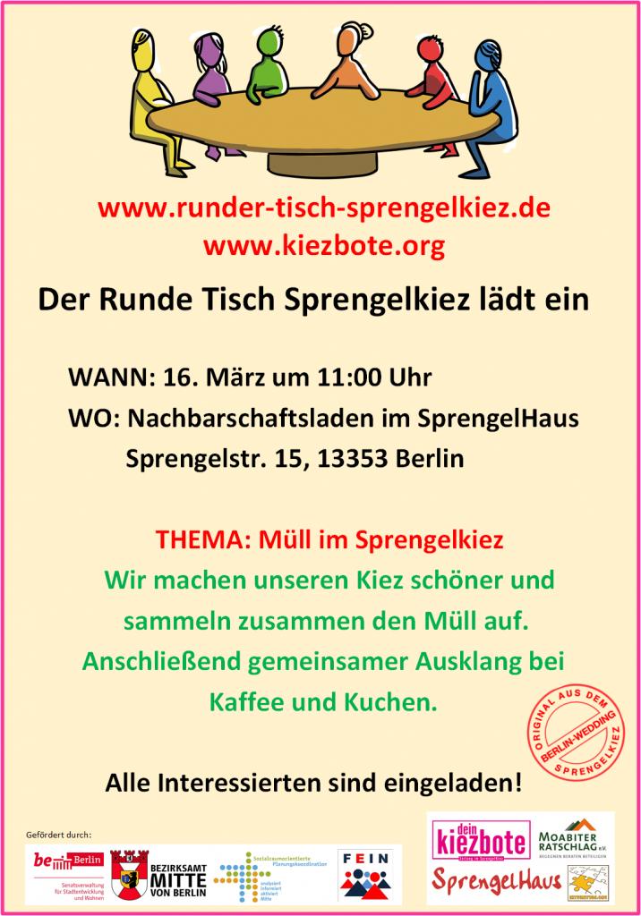 Aktion Müllsammeln im SprengelKiez - 16.03.2019