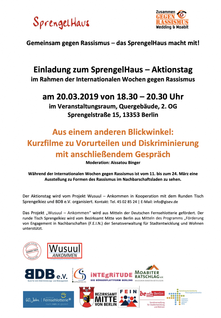 Aktionstag gegen Rassismus Flyer