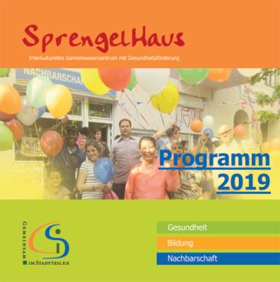 Das Titelbild des Programm-Flyers des SprengelHaus 2019