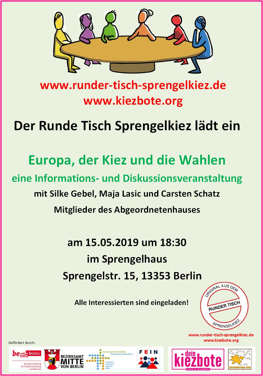 Plakat Europawahlen und der Kiez 05/2019