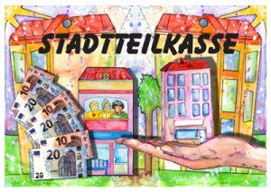 Symbolbild Stadtteilkasse - gemaltes Bild