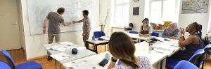 Klasse beim Deutschunterricht