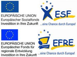 Förderer-Logos: ESF und EFRE