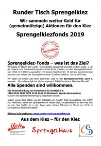 Flyer Sprengelkiezfonds 2019