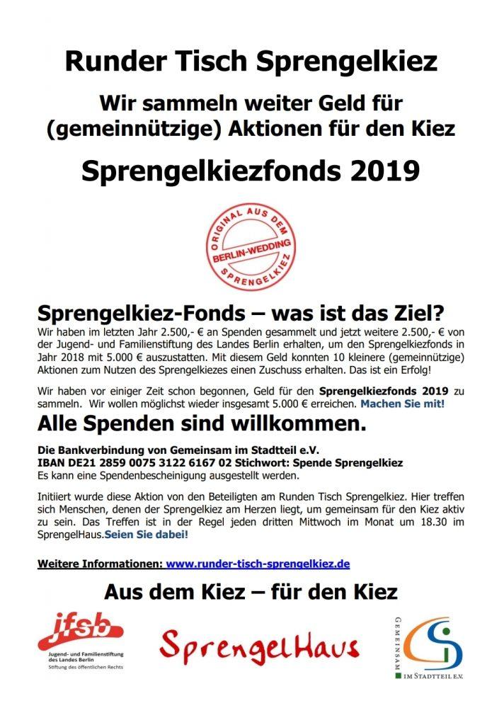 Flyer Sprengelkiezfonds 2019