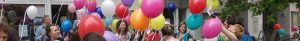 Luftballons vor dem SprengelHaus